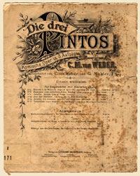 Original manuscript of the opera: Die drei Pintos