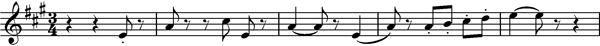 Main melody